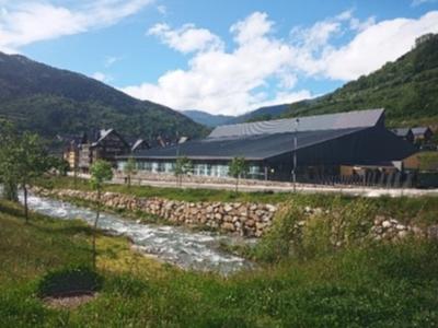 El Palau de Gel de Vielha, un dels equipaments que es podria beneficiar de l'ús de la geotèrmia. Fotografia: ICGC