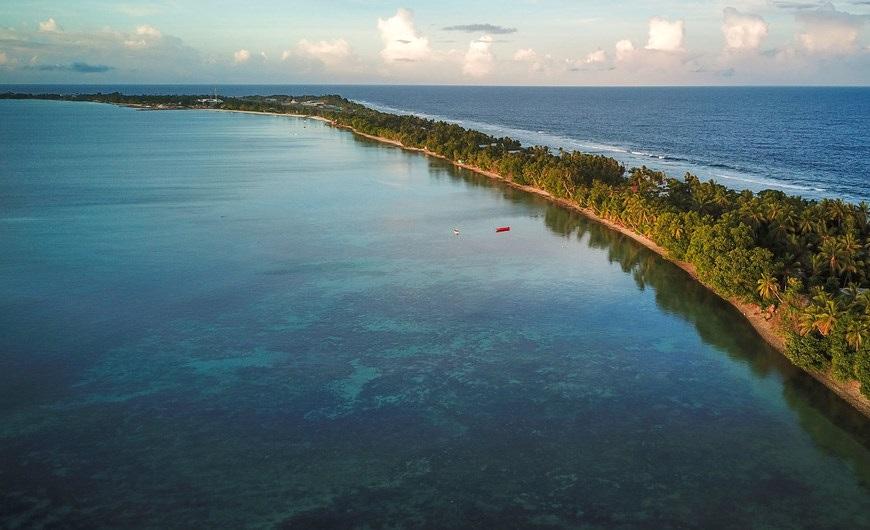 PNUD Tuvalu / Aurélia Rusek L'arxipèlag de Tuvalu a l'Oceà Pacífic està a només dos metres per sobre del nivell del mar, motiu pel qual és molt susceptible al canvi climàtic