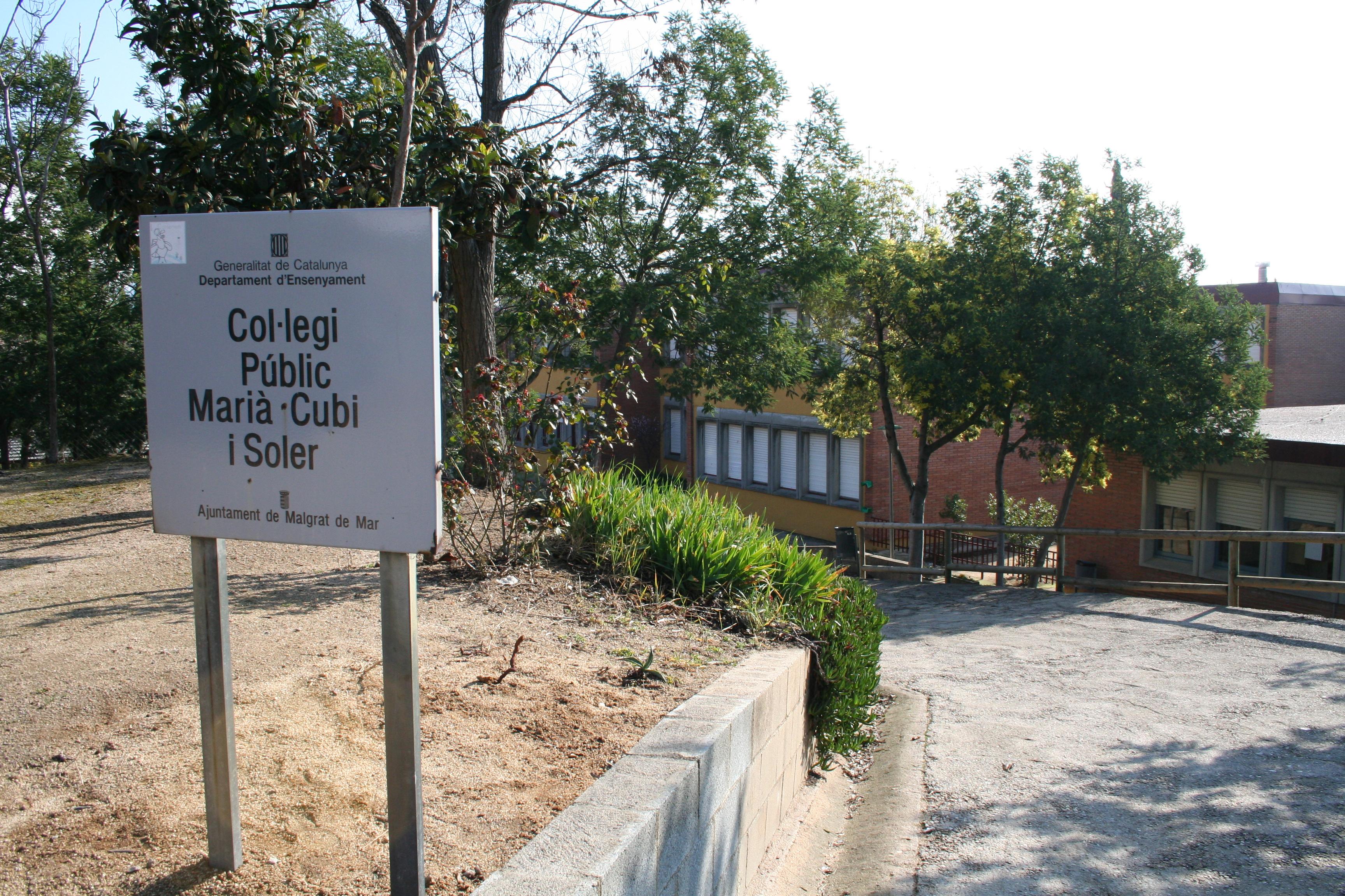 Imatge d'arxiu de l'Escola Marià Cubí i Soler. Foto: Aj Malgrat.