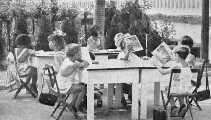 Educació a l'aire lliure a Sao Paulo. Crèdit: Revista brasileira de Ed Física / BBC.