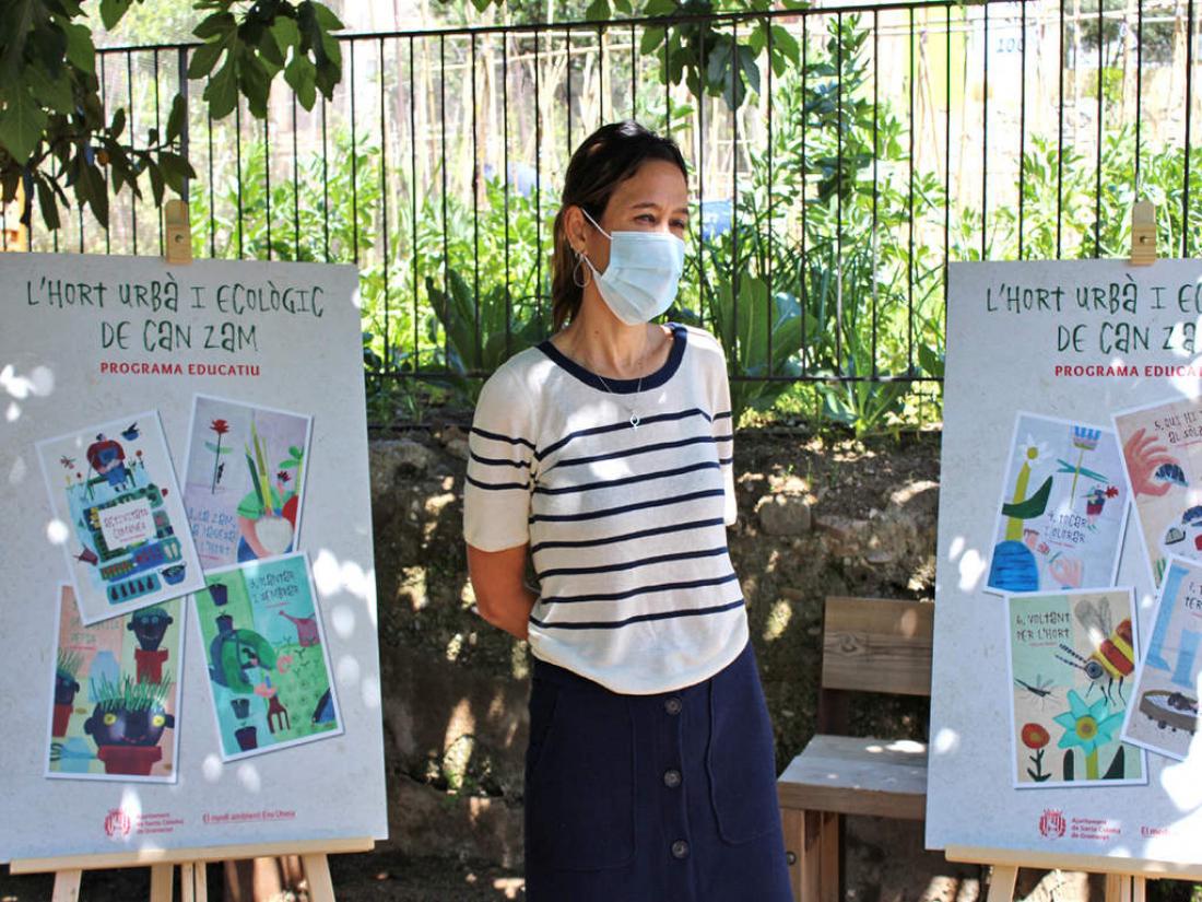 L'alcaldessa, Núria Parlon, en la presentació del Programa Educatiu de l'Hort Urbà i Ecològic de Can Zam