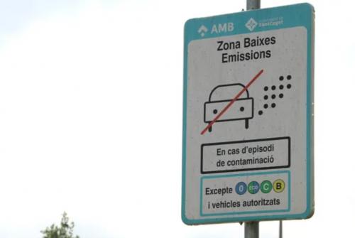 La Zona de Baixes Emissions de Sant Cugat del Vallès es va activar l'1 de maig d'aquest any (ACN/Albert Segura Lorrio)