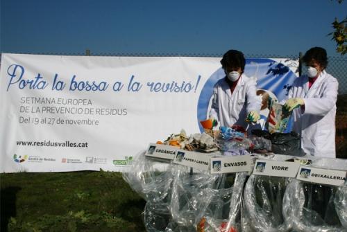 Image d'una ampanya de l'Ajuntament en la Setmana Europea de Prevenció de Residus