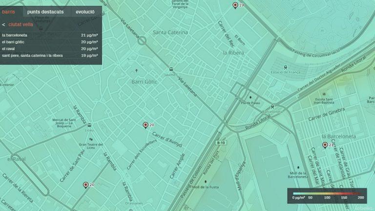 Beteve Llanca Un Mapa Per Consultar La Qualitat De L Aire A